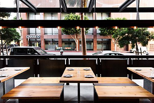 Indoor-outdoor seating gives Plan Check a great dining atmosphere