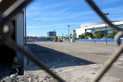 A peek inside the massive 4.6 acre construction site where Fig Central will rise