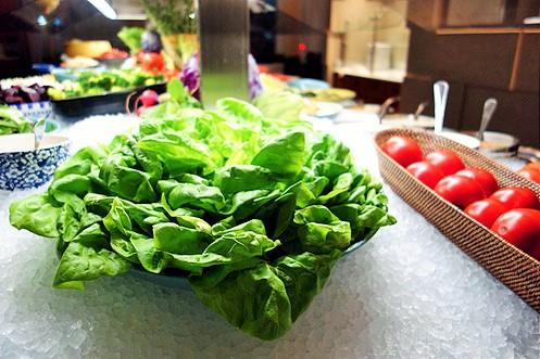 If you want some fresh greens to go with your meat, there's definitely that too