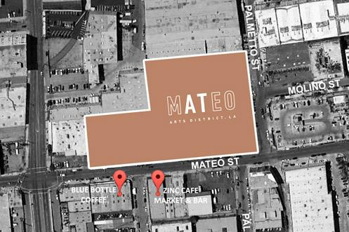 An aerial map of AT MATEO