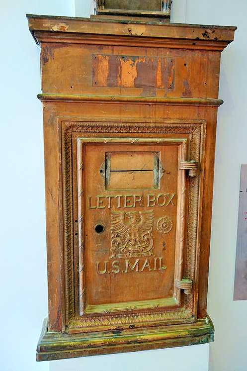 The historic letter box in the lobby