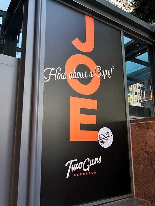 Two Guns Espresso from Manhattan Beach is opening their second location here in Downtown LA in the heart of the Financial District