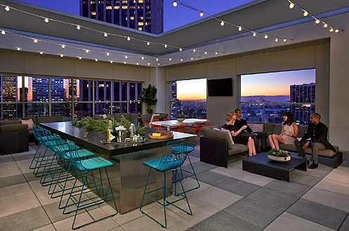 The rooftop deck allows you to enjoy city living at its best