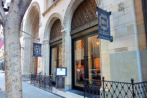 Mediterranean restaurant 10E opened last year in the spectacular Fine Arts Building in Downtown LA on 7th Street