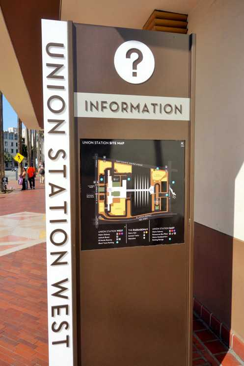 New maps are placed in numerous locations around Union Station