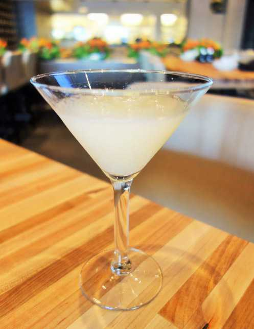 Try the 888 cocktail made with Grey Goose, lychee puree, French vanilla syrup, fresh pineapple and lemon juice