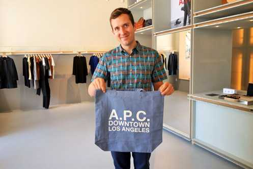 High-end fashion French label A.P.C. opened its first Downtown LA store near 9th/Broadway signaling the strong retail comeback of LA's revitalizing urban center