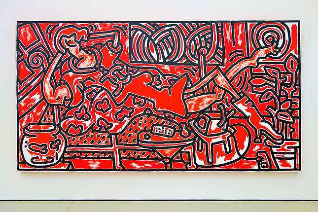 Keith Haring's Red Room (1988) acrylic on canvas