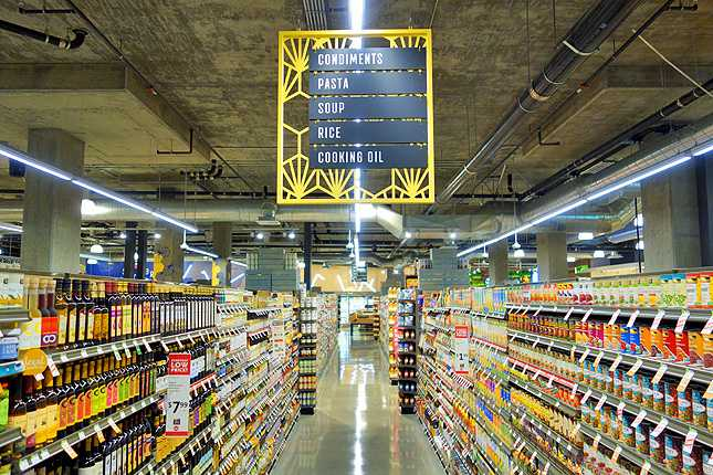 The new Whole Foods in Downtown LA has a very hip industrial design