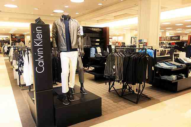The men's department has been updated with a more upscale appearance and better fashion designs