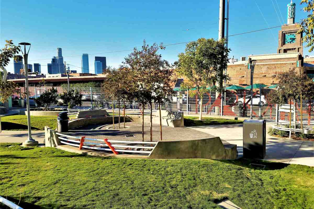 Opening on Nov 5, the new Arts District Park is much needed green space added to a growing urban community