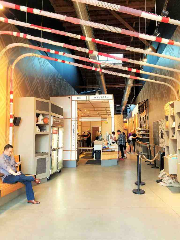 This is Salt & Straw's largest flagship store on the West Coast at 3,000 square feet