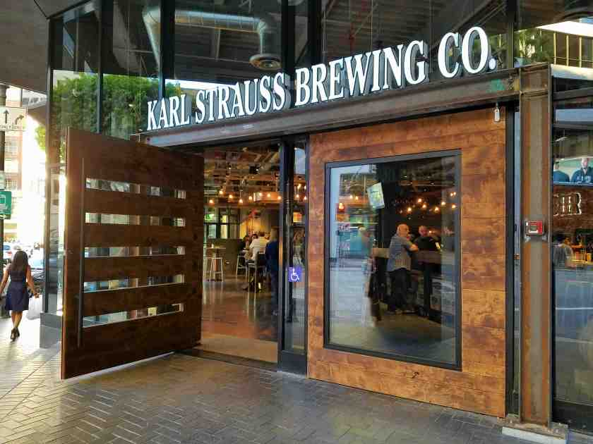 Karl Strauss Brewing Company is now officially open in Downtown LA's Financial District