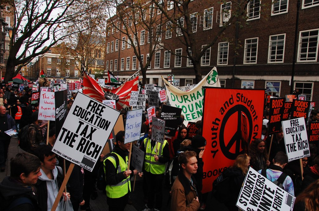 Free education demo, 19 November 2014. What's next for the student movement in 2015? Photo: William Pinkney-Baird.