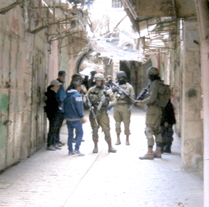 IDF soliders in the Hebron. Image by the author.