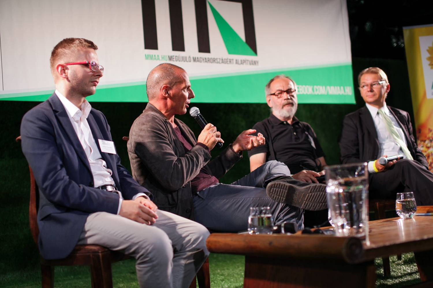 Yanis Varoufakis speaking on a panel at the international conference: The Future of Europe - The Europe of the Future? Photo: Progressive Hungary Foundation