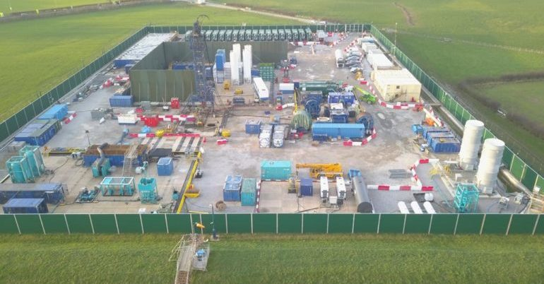 Fracking site in Lancashire