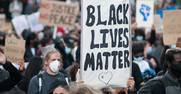 Black lives matter protest in Sheffield