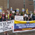 PCS members outside the Tate Modern