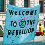 Picture of a sign with Welcome to the Rebellion written on it