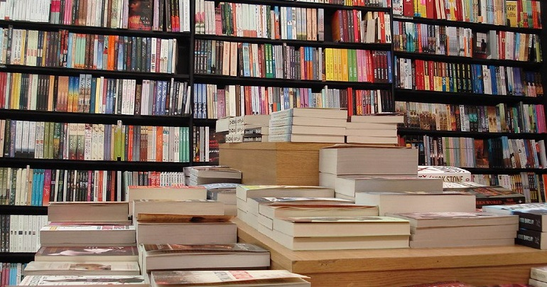 A photo of a the inside of a bookshop