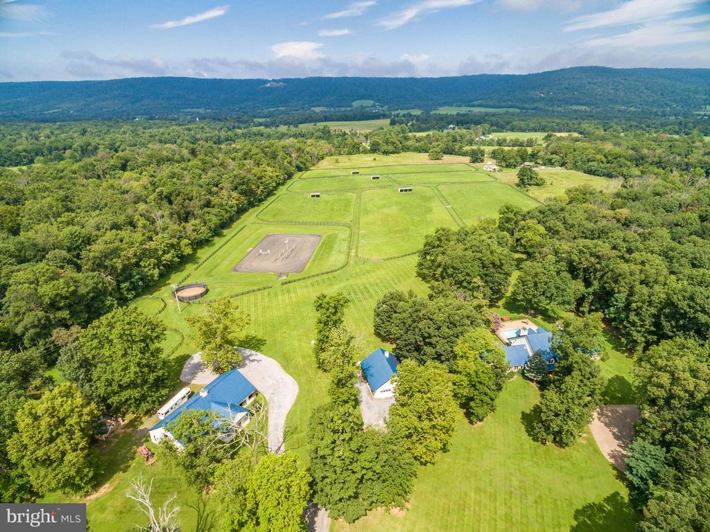 New Price for  Unique 94  Acre Horse Property in Piedmont Hunt Country territory. 8 stall center aisle Barn;4 stall 2nd Barn;11 Paddocks;Run-ins; 150' x 200' Arena! Updated,open  4+ Bedrm  country house with beautiful vistas & mountain views; Pool+  Hot Tub; Fire pit + Built in Grill; 2 car detached Garage+1 BdRm/Office Guest House; 2 Bedm Log Cabin.VeryPrivate but minutes to Middleburg /Uppervile ,Rt 50 &  7.