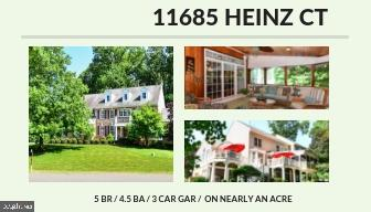 Property for sale at 11685 Heinz Ct, Oakton,  Virginia 22124