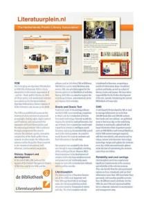 Literatuurplein.nl Brochure