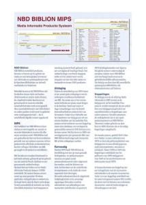 NBD Biblion MIPS Brochure – Dutch Language
