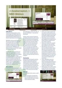 NBD Biblion Boekensalon Brochure