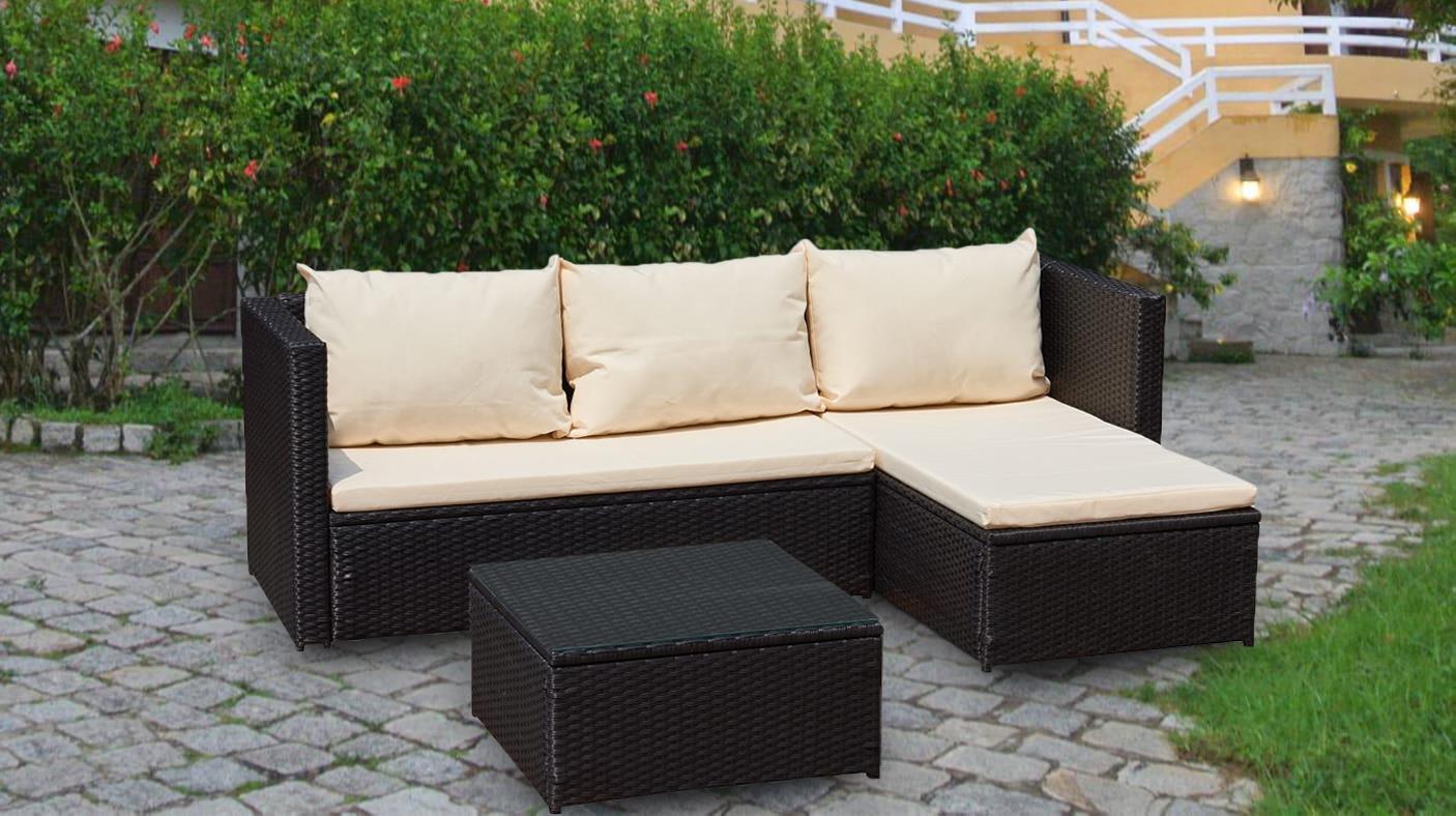 rattan sofa set garden corner l shaped outdoor furniture set