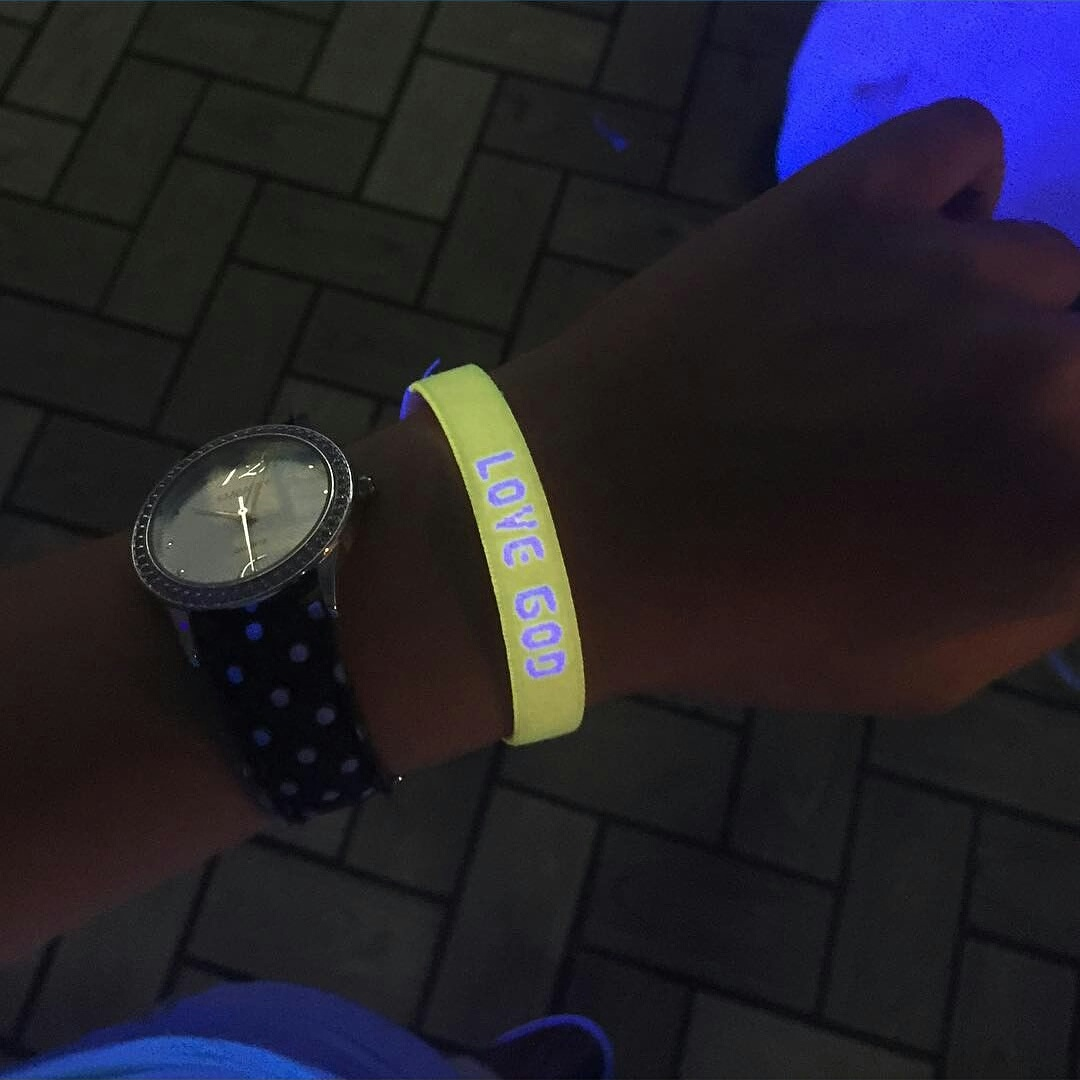 Glow Bowling is so much more fun with a Bright Band