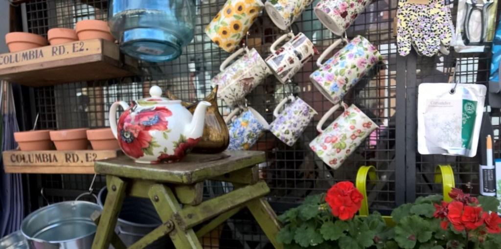 columbia road shop tea pots