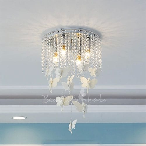 perfect chandelier for a baby girl nursery