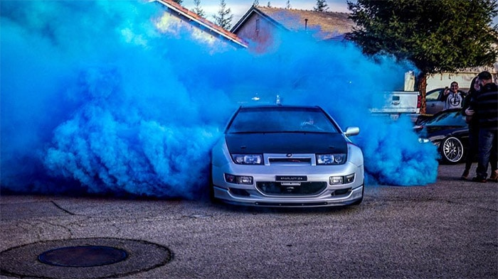 how to use gender reveal burnout powder