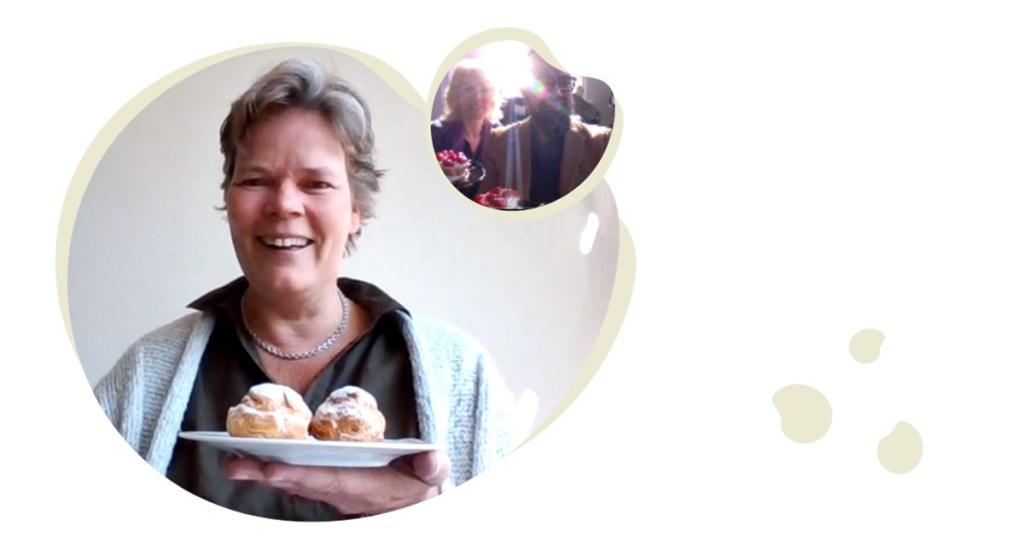 De lancering van Bright Elephant, ieder zijn taartje in een video call