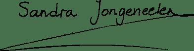 Sandra Jongeneelen (handgeschreven)