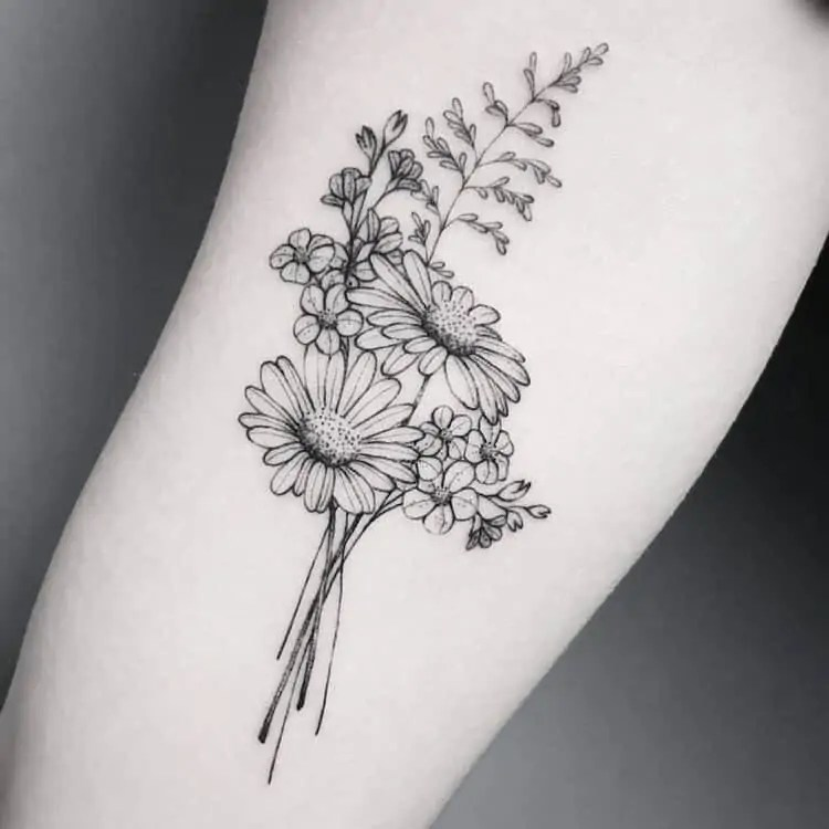 10 Floral Tattoo Artists You Could Trust Your Skin To: 50 Small & Delicate Floral Tattoo Information & Ideas