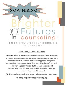Now Hiring--office support