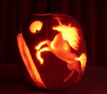 Gay carved pumpkin