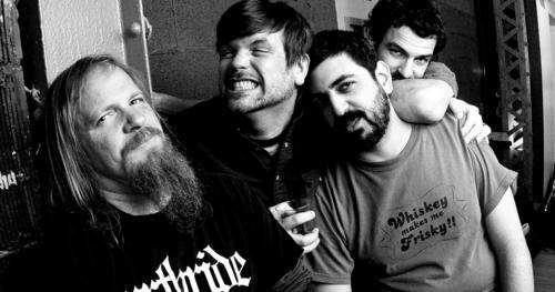 Borracho band records in the studio