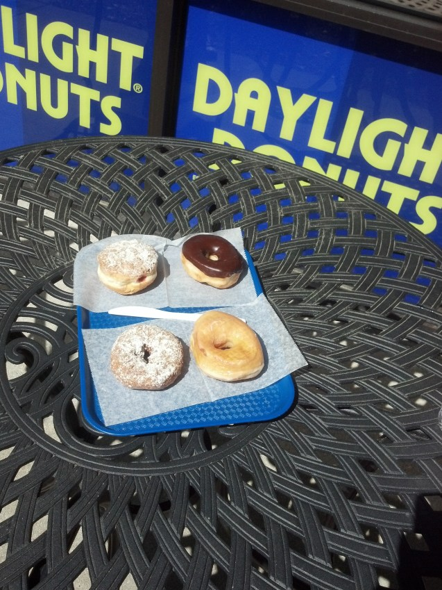 Daylight donuts themselves