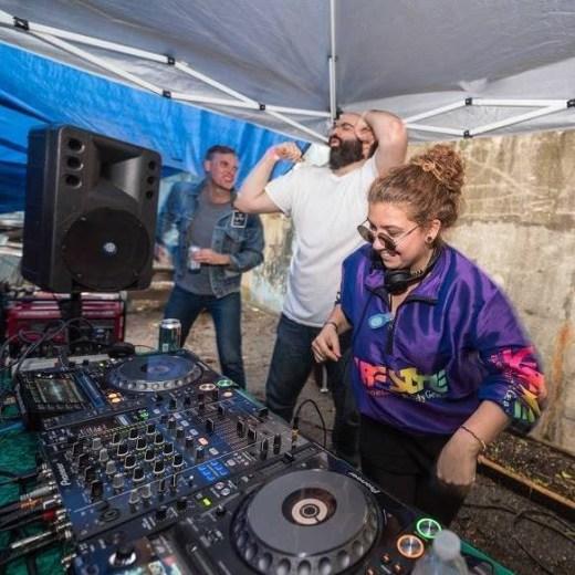 DJ Lisa Frank Spinning Records