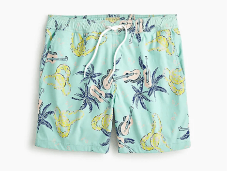 14850fe055a58 Live your best Jimmy Buffett life in these J.Crew swim trunks!