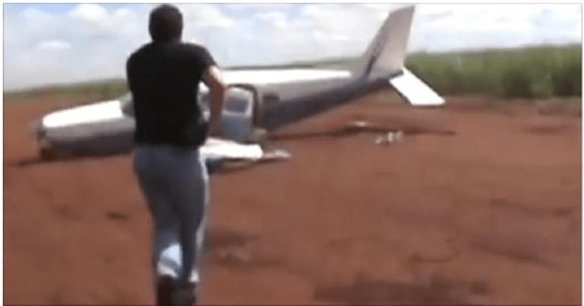 Brazilian authorities took down a drugs plane that was attempting to flee