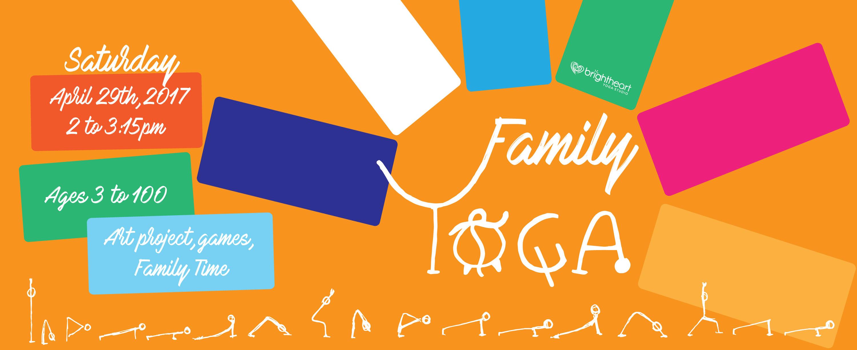 Family Yoga Banner Bright Heart Yoga Studio