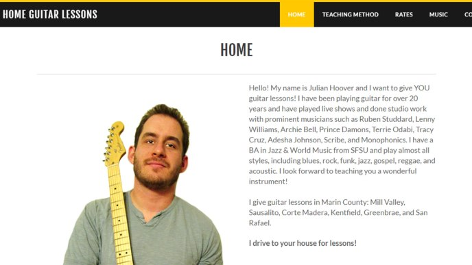 marin home guitar lessons