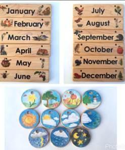 Perpetual Montessori Calendar Bright Isle