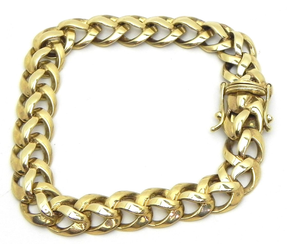 Casted Ladies 14k Yellow Gold Braided Link 276 Grams