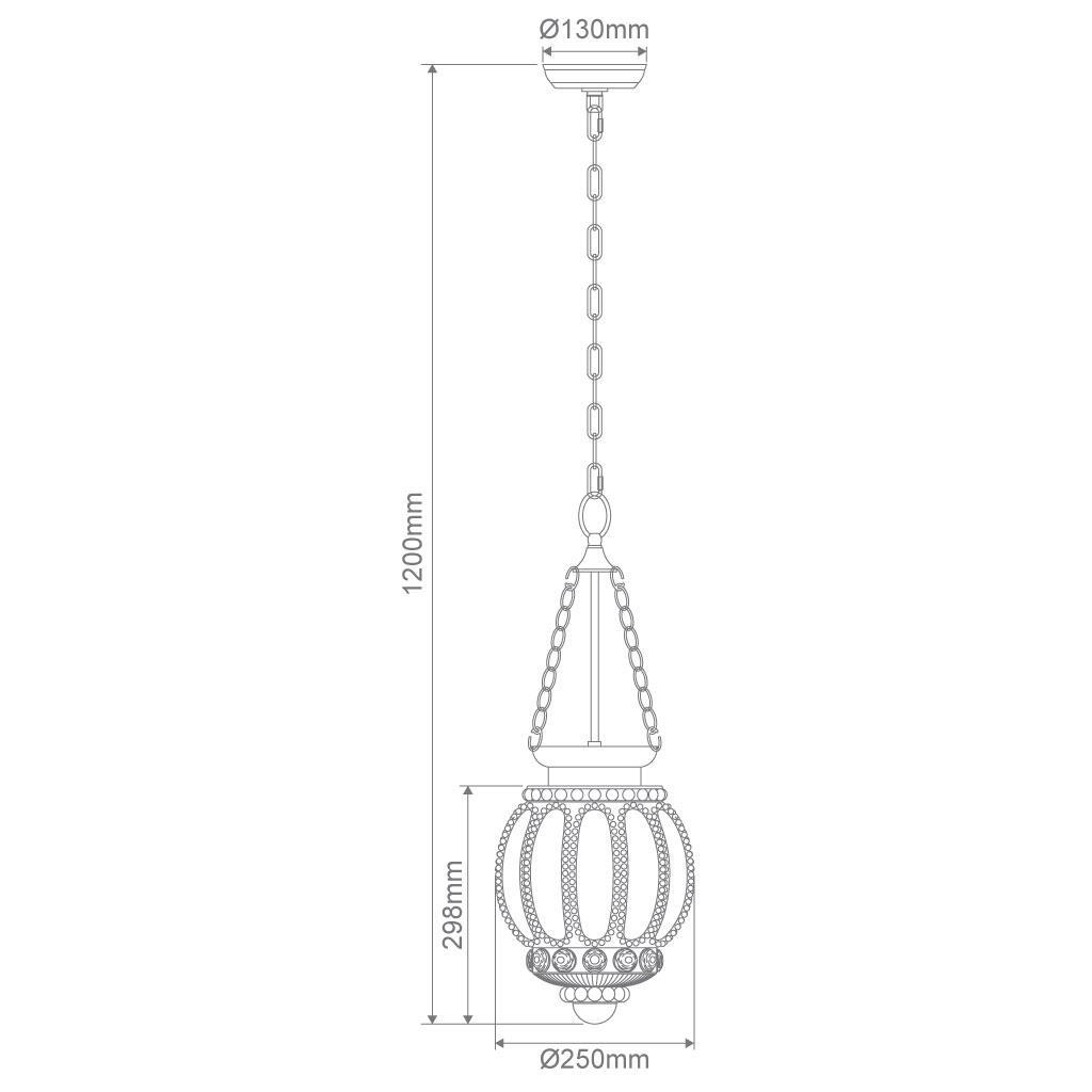 Chelsea 1 Light Lantern Pendant Opal Bright Lighting
